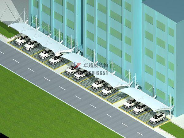 阿克苏膜结构车棚【阿克苏统一企业有限公司等】设计施工案例