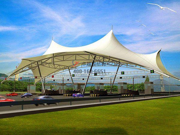 许昌鄢陵县膜结构高速收费站设计施工案例