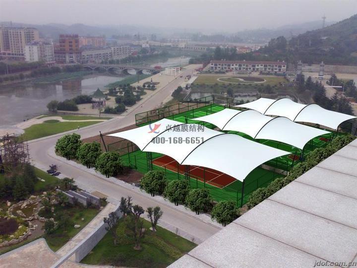 膜结构网球场/门球馆设计安装安装案例