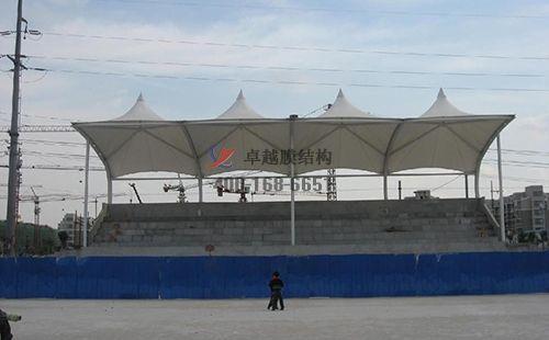 昆明膜结构舞台【昆明大学舞台】设计施工案例