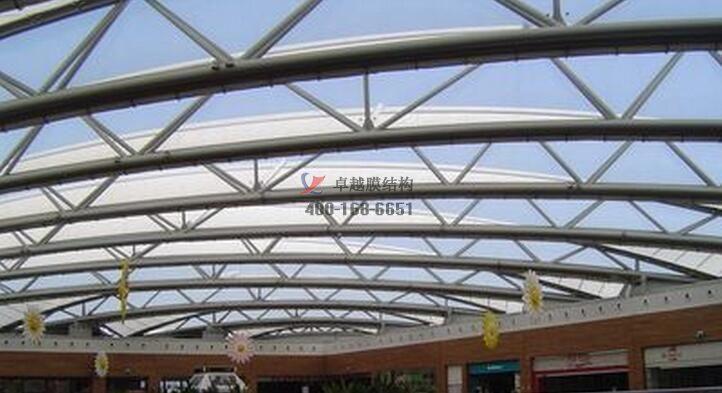 银川商场PTFE膜结构屋顶工程案例