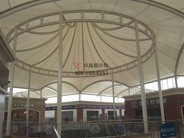 襄阳膜结构顶棚ETFE透光膜商业街案例