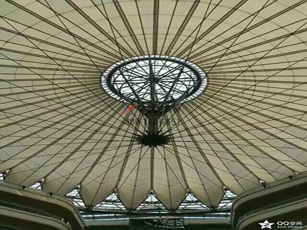 武汉膜结构顶棚ETFE透光膜商业街案例