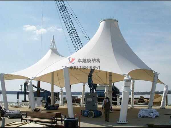 黄冈商城膜结构遮阳棚商业街/ETFE透光膜设计案例