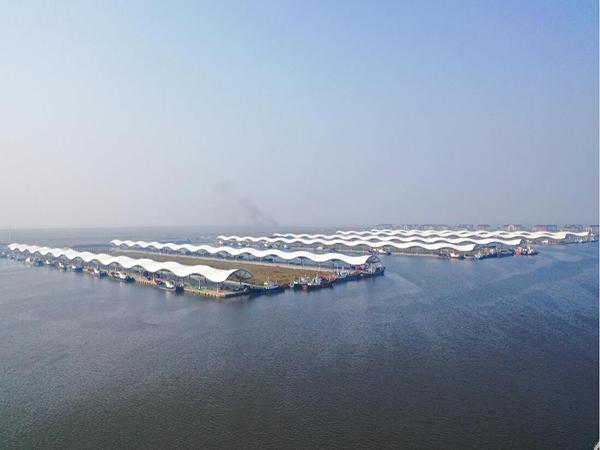 江苏苏州渔港膜结构案例