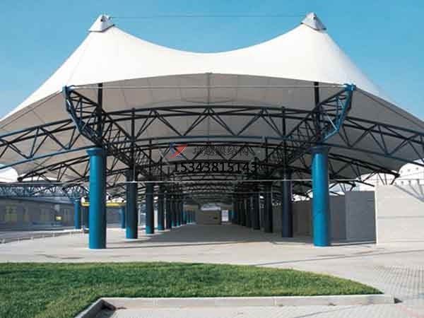 和田市膜结构雨棚工程设计施工案例