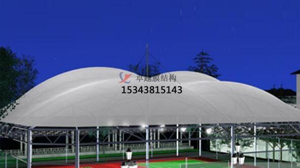 足球场膜结构雨棚