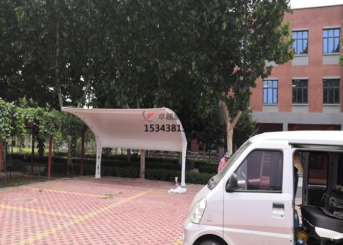 郑州中原环保污泥厂膜结构车棚