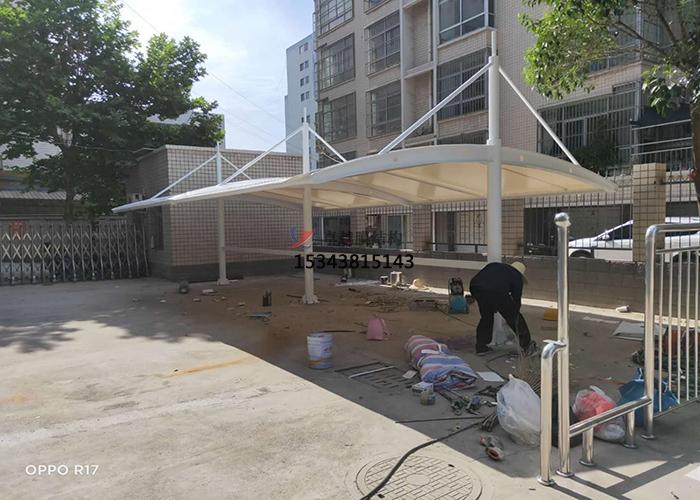 三门峡灵宝城投园林公司膜结构车棚