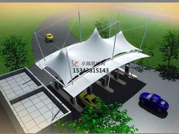 太原市膜结构加油站遮阳雨篷【生产销售】
