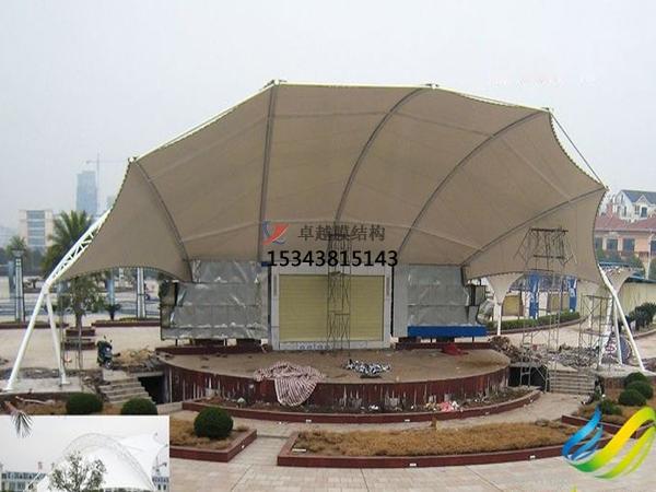 枣庄膜结构看台雨篷/主席台/舞台【安装施工】
