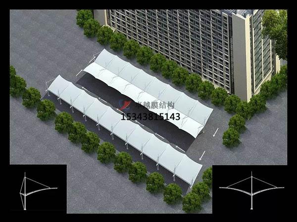膜结构车棚形状分析