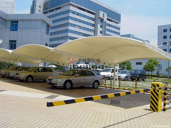 施甸膜结构停车棚【雨棚遮阳棚生产安装】
