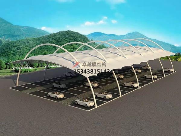 安陆膜结构停车棚【雨棚遮阳棚生产安装】