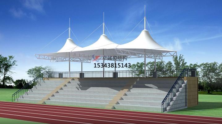 济源体育公园膜结构【看台雨棚】门球场案例