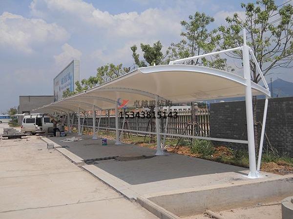 宾县膜结构【充电站防雨篷】停车棚设计安装