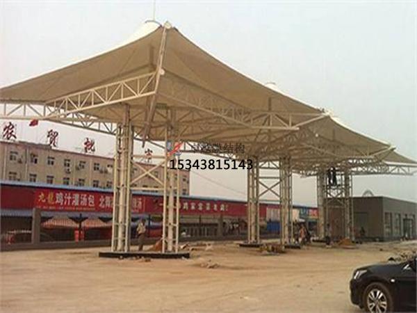 北京膜结构加油站【生产设计】施工安装