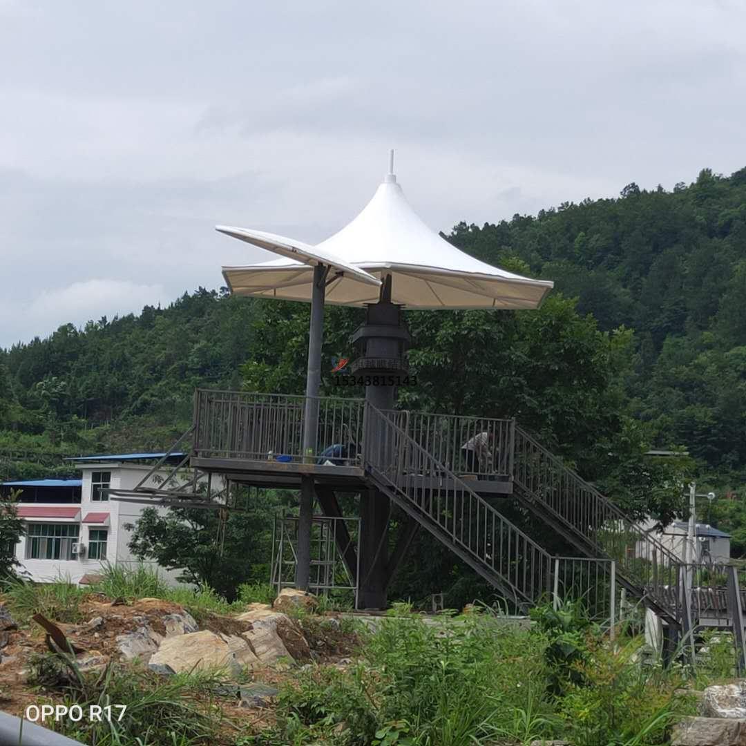 湖南凤凰县景区膜结构景观伞