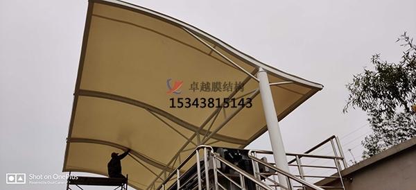 浙江杭州安吉县自来水厂膜结构设备棚