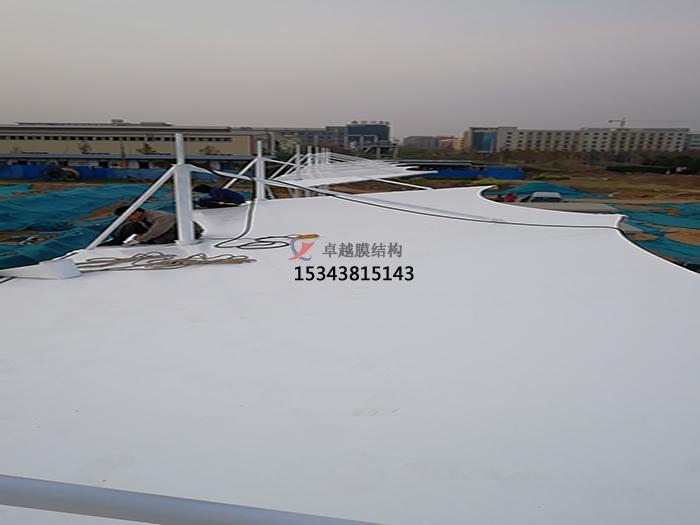 荥阳阳光物流园膜结构汽车棚案例