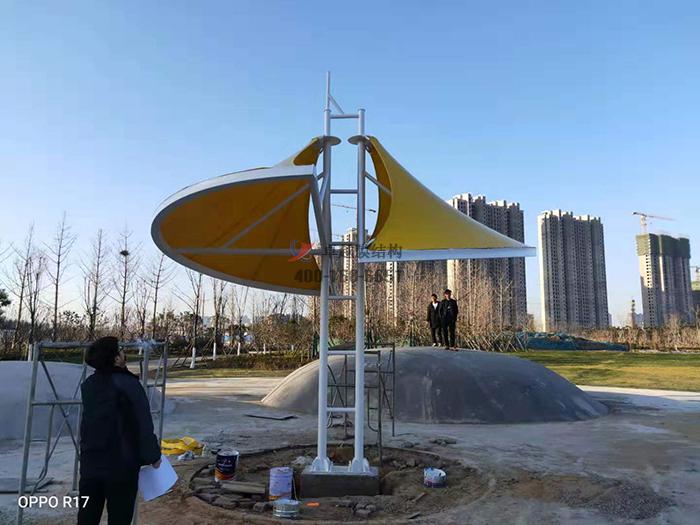 郑州须水河膜结构景观
