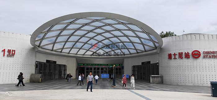 上海迪士尼乐园地铁站ETFE膜结构