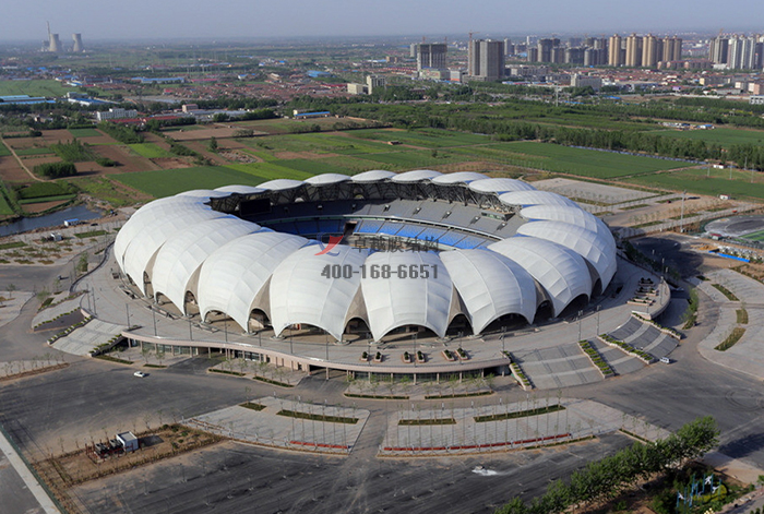 河北沧州体育场PTFE膜结构