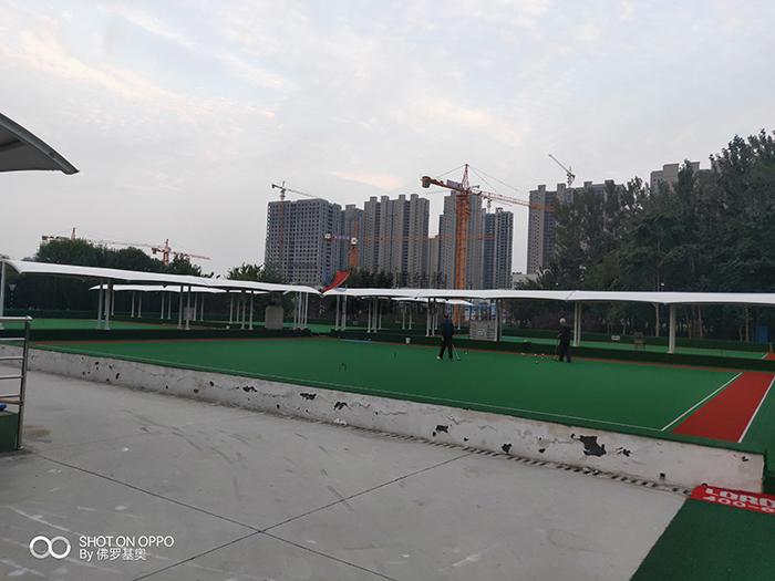 菏泽市门球场膜结构雨棚