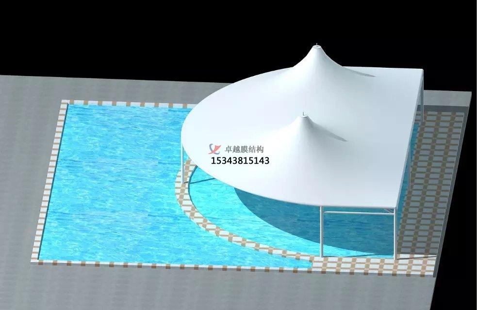 郑州膜结构游泳池遮阳棚【膜结构设计】