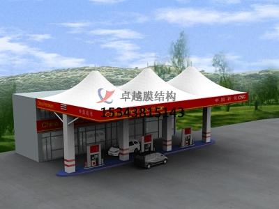 郑州膜结构加油站罩棚设计【不二之选】