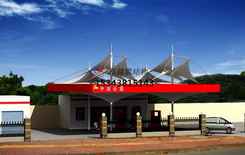 天津加油站罩棚施工/加气站雨棚设计安装生产厂家