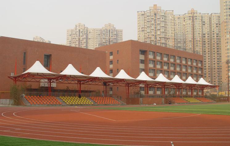 体育场膜结构看台施工